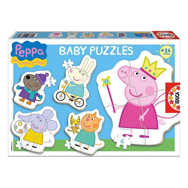 5-Puzzle Set Baby Peppa Pig Educa