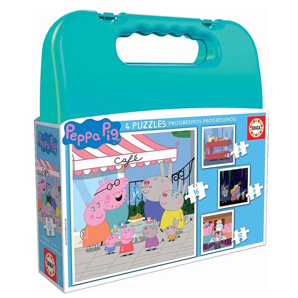 4-Puzzle Set Peppa Pig Progressive Educa (6-9-12-16 pcs)