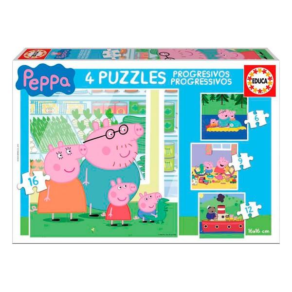 4-Puzzle Set Peppa Pig Educa